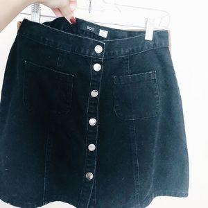 Urban outfitters BDG black jean skirt